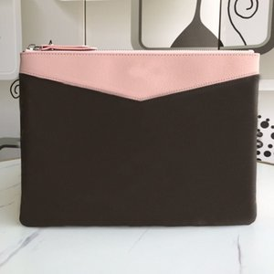 Wholesale travel organizer wallet women resale online - New Travel Toiletry Pouch Protection Makeup Zopper Bags Clutch Women Genuine Leather Waterproof Cosmetic Bags For Women
