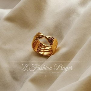 Wholesale buy gold parties for sale - Group buy 2020 Winter Vintage Must Buy Minimalist Bowknot Finger Ring Taxtured Wave k Gold Plated Rings For Women Party Jewelries1