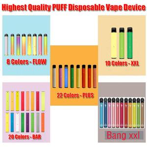 Puff Plus Bang XXL XTRA Disposable Vape Pen Pod Puff XXL Bar 800 1500 Puffs Electronic Cigarette Empty Kit via Hyppe Max Kangvape