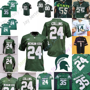ingrosso spartani-Custom Michigan State Spartans MSU Football Jersey NCAA College College Kirk Cousins Bell Rocky Lombardi Simmons Jayden Reed Jalen Nailor Carl Banks