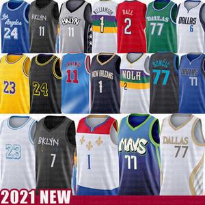 Luka 77 Kevin Zion Doncic Kyrie Williamson Irving Durant Basketball Jersey Lonzo Biggie Ball Kristaps Dirk Porzingis Nowitzki Los 23 Angeles