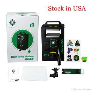 Authentic KP-1 Rosin Press Machine By LTQ Vapor KP1 Wax Dabber Squeezer Temperature Adjustable Extracting Tool Kit Presser 4 Ton US Stock