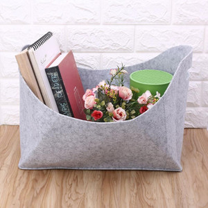 Wholesale magazines holder resale online - Felt Storage Basket Portable Large Laundry Hamper Newspaper Magazine Toy Firewood Holder Book Organizer Multi use