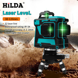 Wholesale cross laser level for sale - Group buy HILDA Laser Level Lines D Level Self Leveling Horizontal And Vertical Cross Super Powerful Green Laser Level