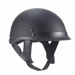 Wholesale half scooter open face motorcycle for sale - Group buy Motorcycle Half Helmet Retro Personality Summer Open Face Cruiser Electric Scooter Chopper Helmet For Men Women Motorbike1