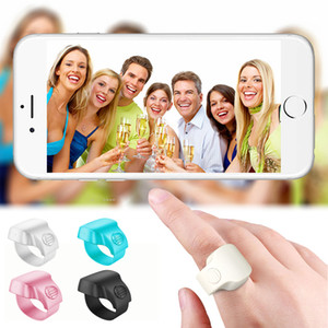 Wholesale stick fingers for sale - Group buy Bluetooth Remote Slfie timer Finger Ring Rechargeable Wireless M Range Control Wearable Shutter for Smartphone