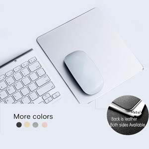 Business Metal Mouse Pad Double-side Aluminium Waterproof Anit-slip PU Leather Hard Mouse-pad Suitable for Office Laptop