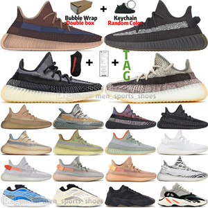 Fade Carbon Zyon Israfil White Black Static Reflective Kanye West Mens Running Shoes Yecheil Cinder Bred Zebra Men Womens Sneakers Trainers