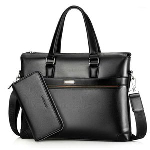 Wholesale men brief cases for sale - Group buy Briefcases Portable Male Messenger Bag Sets Men Briefcase for Document Laptop Computer Handbag Shoulder Brief Case Satchel Bags1