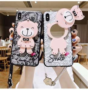Wholesale mirrors for makeup resale online - Creative Makeup mirror phone case for iphone mini pro max Good quality phone cover for iphone plus Huawei mate30 P40
