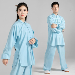 Wholesale wushu kungfu uniform for sale - Group buy High Quality Women Men Wushu Uniform Long Sleeve Tai Chi Clothing Stage Adult Martial Arts Wing Chun Suit Kungfu Outfit Cloth