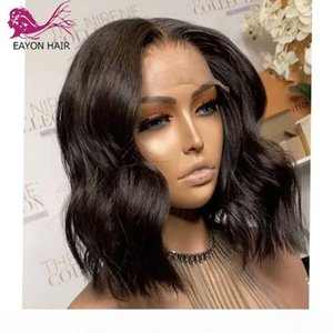Wholesale silk base closure water wave resale online - EAYON x5 Silk Base Wig Water Wave Short Human Hair Bob Wigs Pre Pluck Density Remy Brazilian x4 Lace Closure WIg For Women