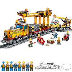 Wholesale electric rail train for sale - Group buy KAZI electric rail train with light and sound children assembled educational building blocks train toys for children
