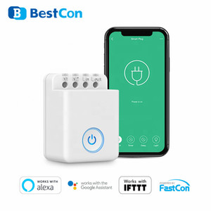 Wholesale timer light switch resale online - 4PCS set BroadLink Bestcon MCB1 DIY Wifi Switch Wireless Smart Home Automation Relay Module Controller for Google Home Light Timer