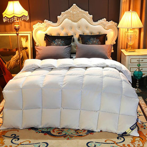 Wholesale down comforters resale online - All Cotton Down Comforter Hotel Spring Autumn And Winter Warm Thickened Duvet Core Gift Velvet Quilt King Size