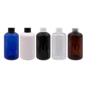 Wholesale blue shampoos resale online - ml X Round Amber Empty Cosmetic Packaging Shampoo Liquid Soap Bottles Blue Container With Screw Lid PET Bottle