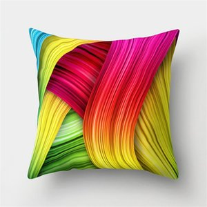Wholesale decorate pillow covers for sale - Group buy Square Colour Plush Cushion Cover Ripple Vortex Crayon Home Decorate Pillow Case Geometric Pattern Pillows Cases Personality Hot Sale md F2