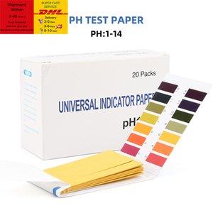 80 Strips pack PH Test Strips Full PH Meter PH Controller 1-14st Indicator Litmus Tester Paper Water Soilsting Kit Factory Free DHL Shipping