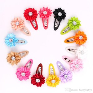 Wholesale kids sunflower hair accessories resale online - Kids Girl Princess Cute Sunflower BB Clips Baby Girls Cloth Wrapped Hairpins Kids Hair accessories