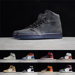 Wholesale hi basketball shoes for sale - Group buy Mens Basketball Shoes Neutral Grey Hi OG s Women Banned Bred Chicago Black Toe Court Purple Pine Green UNC Premium Sneaker