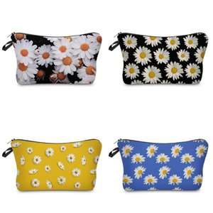 Wholesale designer envelope clutch bags resale online - Wash Flower Cosmetics Storage Bag Daisy Pattern Handbag Fashion Makeup Dumpling Clutch Bags Waterproof Woman Travel Envelope XS F2
