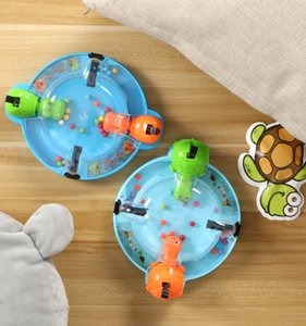 ingrosso giochi affamati-New Board Game Hungry Tortoise Chomping Hippo Swallow Bead Match Mini Desktop Game Family Interactive Toy Toys Toys Q0115