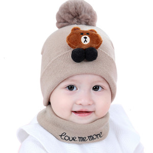 Wholesale plain white baby hats for sale - Group buy A2 New Baby months old boys girls woolen thickened warm neck newborn Hat autumn and winter B6