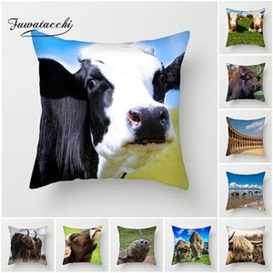 Wholesale cow prints resale online - Fuwatacchi Animal Printed Cushion Cover Spanish Bullfighting Cow Pillows Cover for Home Sofa Decorative Pillowcases cm New1