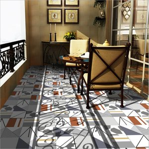 Wholesale tile decals for kitchen resale online - Wall Stickers Simple living room bedroom with tiles Self adhesive PVC wall decal kitchen oil proof paste toilet waterproof