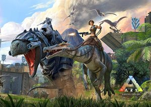 Wholesale painting games for sale - Group buy ARK Poster Survival Evolved Hit NEW Game Xbox SILK POSTER Decorative Wall painting x36inch1