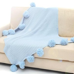 Wholesale queen blanket cotton resale online - 2pcs High Quality Adult Cotton Cotton Crochet Linen Blanket Double Queen Knitted Throw Bed Sofa Home Decoration x105cm