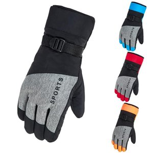 Wholesale ski winter thermal gloves resale online - Thicken Ski Snow Gloves Cold Weather Waterproof Winter Thermal Snowboard Gloves Men Women Outdoor Snowmobile Motorcycle