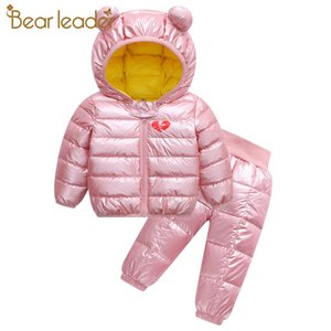 Wholesale cute warm outfit resale online - Bear Leader Kids Girls Warm Clothing Sets New Fashion Cartoon Baby Cute Outfits Kids Boys Suits Children Clothes YearsX1019