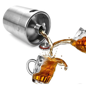 Wholesale homebrew resale online - 2L Homebrew Growler Mini Keg Stainless Steel Beer Growler Beer Keg Screw Cap Wine Pot Beer Barrel Ooa2139 Da0Tz Hib1M