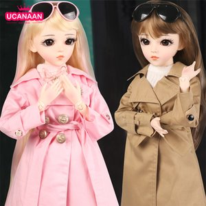 Wholesale bjd sd girl resale online - 60CM BJD Doll Fashion Girl SD Dolls Ball Jointed Doll With Full Outfits Hat Wig Clothes Shoes Makeup Best Gifts For Girls