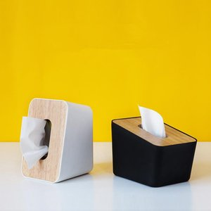 Wholesale style seats for sale - Group buy Japan Style Plastic Tissue Box with Wooden Cover Creative Irregular Shape Seat Type Removable Tissue Box Canister