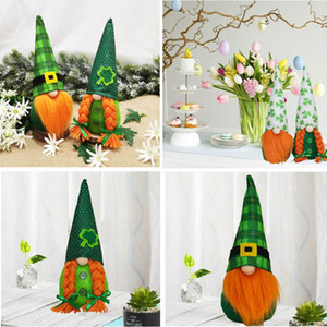 ingrosso erba più verde-2021 St Patrick Day Party Decorazione Irish Green Bambola senza motivo Decorazione Green Grass Bambola antidolorifico Ornamenti vacanze regalo GWD4715