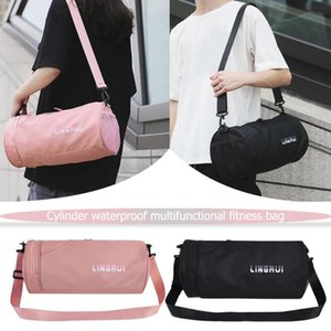 Wholesale pink gym bags resale online - Nylon Women Men Travel Sports Gym Shoulder Bag Large Waterproof Nylon Handbags Black Pink Color Outdoor Sport Bags New