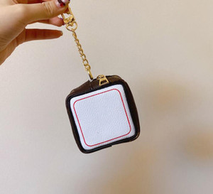 2021 Dice Letter High Quality Wallet Key Chain Accessories Unisex Designer Coin Case Key Ring PU Leather Pattern Car Purse Keychain Jewelry