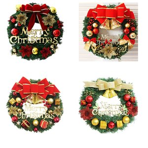 Wholesale christmas tree wreath resale online - Creative Wreath Christmas Tree Decoration Colorful Family Holiday Party Wall Decoration Props Holiday Atmosphere Wreath Decor VT1740