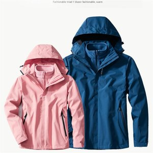 polar jacke im freien großhandel-Outdoor Paar Plus Fleece WomenM XL Herbst Winter entfernbare wasserdichte Windjacke Polar Fleece Liner Jacket Men