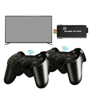 EMX-L41 U8 4K TV Video Games Stick LINUX System Retro Classic 64 Bit Games With 2.4G Wireless Controller HDMI Output for Dual Players Gift
