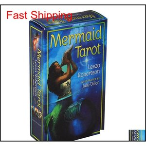 Mermaid Tarot Deck 78 Cards Divination Card Game With Guide Hupr9