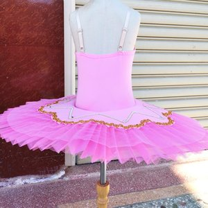 Wholesale ballet barre resale online - Pink Ballet Dress Tutu Skirts For Girls White Swan Lake Dance Dress Pink Cute Girls Barre Costumes Assorted Color