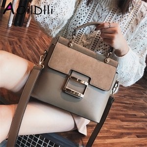 Wholesale vintage pu leather buckle bag resale online - Bag Vintage Shoulder Buckle PU Leather Handbags Crossbody Bags For Women Famous Brand Spring Sac Femme Q1104