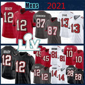 jersey jersey de futebol venda por atacado-Mens Nova Jersey Football Tom Brady Rob Gronkowski Chris Godwin Devin Branco Mike Evans Costurado
