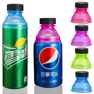 Wholesale soda cans resale online - Replacement Soda Can Covers multicolor PP Beer Cans Leakproof Cap Can Spout Cap With Screw Cap MY inf0669