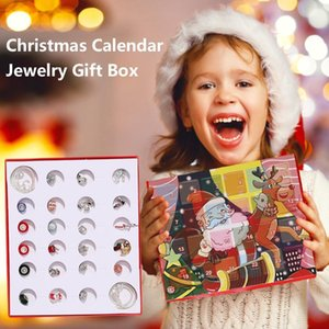Wholesale advent calendars for sale - Group buy Fashion Jewelry Advent Calendar With Girls Christmas Gifts Charms DIY Bracelet Necklace Countdown Calendar Kids Teenager Y1203
