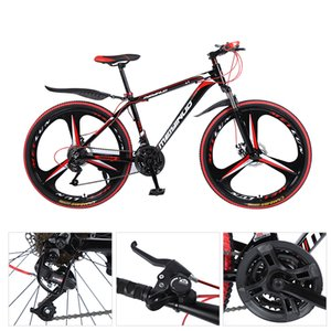 26 Inch 21 Speed Mountain Bicycle Fashion White Color Shock Absorption High Carbon Steel City Bicycle for Adult