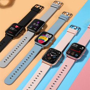 Wholesale apple watch 3 black band resale online - P8 Smart Bracelet Blood Pressure Oxygen Sport Fitness Tracker Watch Heart Rate Monitor Wristband Pk Fitbit Versa Mi band Plus